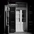 Rue Dauphine French Quarter New Orleans-monochrome by Kathleen K Parker