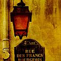 Rue Des Francs Street Light by Bob Coates