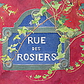 Rue Des Rosiers In Paris by Mary Ellen Mueller Legault