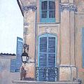 Rue Espariat Aix-en-provence by Jan Matson