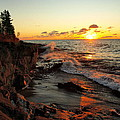 Rugged Shore Fall by James Peterson