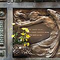 Ruggeri Roncoroni Guzzi Grave Marker Monumental Cemetery Milan by Sally Rockefeller