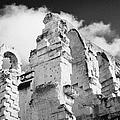 Ruined Area Of The Old Roman Colloseum At El Jem Tunisia by Joe Fox