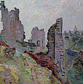 Ruins In The Fog At Crozant by Jean Baptiste Armand Guillaumin