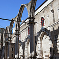 Ruins Of Carmo Convent In Lisbon by Artur Bogacki