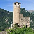 ruins of Chatelard castle by Antonio Scarpi