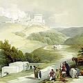 Ruins Of The Church Of St. John Sabaste 1839 by Munir Alawi
