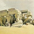 Ruins Of The Temple Of Kom Ombo by David Roberts