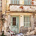 Run-down Building In Rethymnon by Sophie McAulay