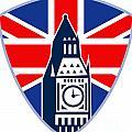 Runner Sprinter Start British Flag Shield by Aloysius Patrimonio