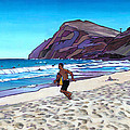 Running At Makapuu by Douglas Simonson