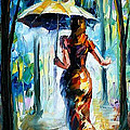 Running Towards Love - Palette Knife Oil Painting On Canvas By Leonid Afremov by Leonid Afremov
