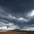 Rural Road In Lightning Storm by Jill Battaglia