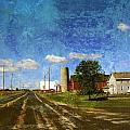 Rural Wi Road W Texture by Anita Burgermeister