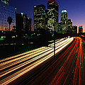 Rush Hour Harbor Freeway Los Angeles Ca by Panoramic Images