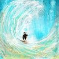 Rushing Beauty- Surfing Art by Lourry Legarde