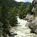 Rushing Water In Boulder Canyon by Rincon Road Photography By Ben Petersen