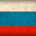 Russia Flag Vintage Distressed Finish by Design Turnpike