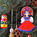 Russian Christmas Tree Decoration In Fredrick Meijer Gardens And Sculpture Park In Grand Rapids-mi by Ruth Hager