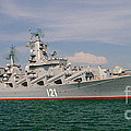 Russian Cruiser Moskva by Petr Taborsky