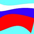 Russian Flag by Lali Kacharava