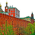 Russian Orthodox Church From Park Outside The Kremlin In Moscow-russia by Ruth Hager