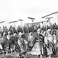 Russian Women Go To The Fields by Underwood Archives