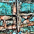 Rust And Aqua Alcohol Inks Abstract Duo by Danielle  Parent