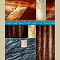 Rust And Rocks Rectangles by Elaine Plesser