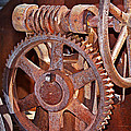 Rust Gears And Wheels by Phyllis Denton