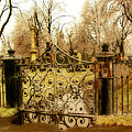 Rusted Cemetery Gate by Gothicrow Images
