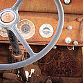 Rusted Dash Of Classic Car by Ray Van Gundy
