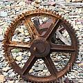 Rusted Gear Wheel Glacier National Park Montana by Jason O Watson