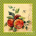 Rustic Apples On Moroccan by Jean Plout