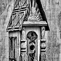 Rustic Birdhouse - Bw by Christopher Holmes