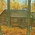 Rustic Cabin At Lake Hope Ohio by Frank Hunter