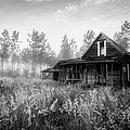 Rustic Historic Woodlea House - Black And White by Steven Hlavac