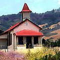 Rustic Old Schoolhouse Near San Simeon California by Elaine Plesser