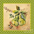 Rustic Pears On Moroccan by Jean Plout