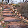 Rustic Stairway by Donna Jackson