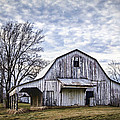 Rustic White Barn by Cricket Hackmann