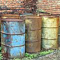 Rusting Oil Barrels by Yali Shi
