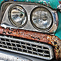 Rusty 1959 Ford Station Wagon - Front Detail by Carlos Alkmin