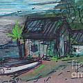 Rusty Boathouse by Debbie Wassmann
