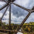 Rusty Bridge In Fall by Brandon Sullivan