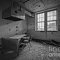 Rusty Desk Bw by Michael Ver Sprill