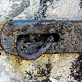 Rusty Dusty And Grimy Lock Plate by Kathy Clark