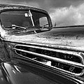 Rusty Ford 1942 Black And White by Gill Billington