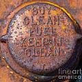 Rusty Gas Tank Cap by Les Palenik