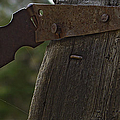 Rusty Hasp   #0005 by J L Woody Wooden